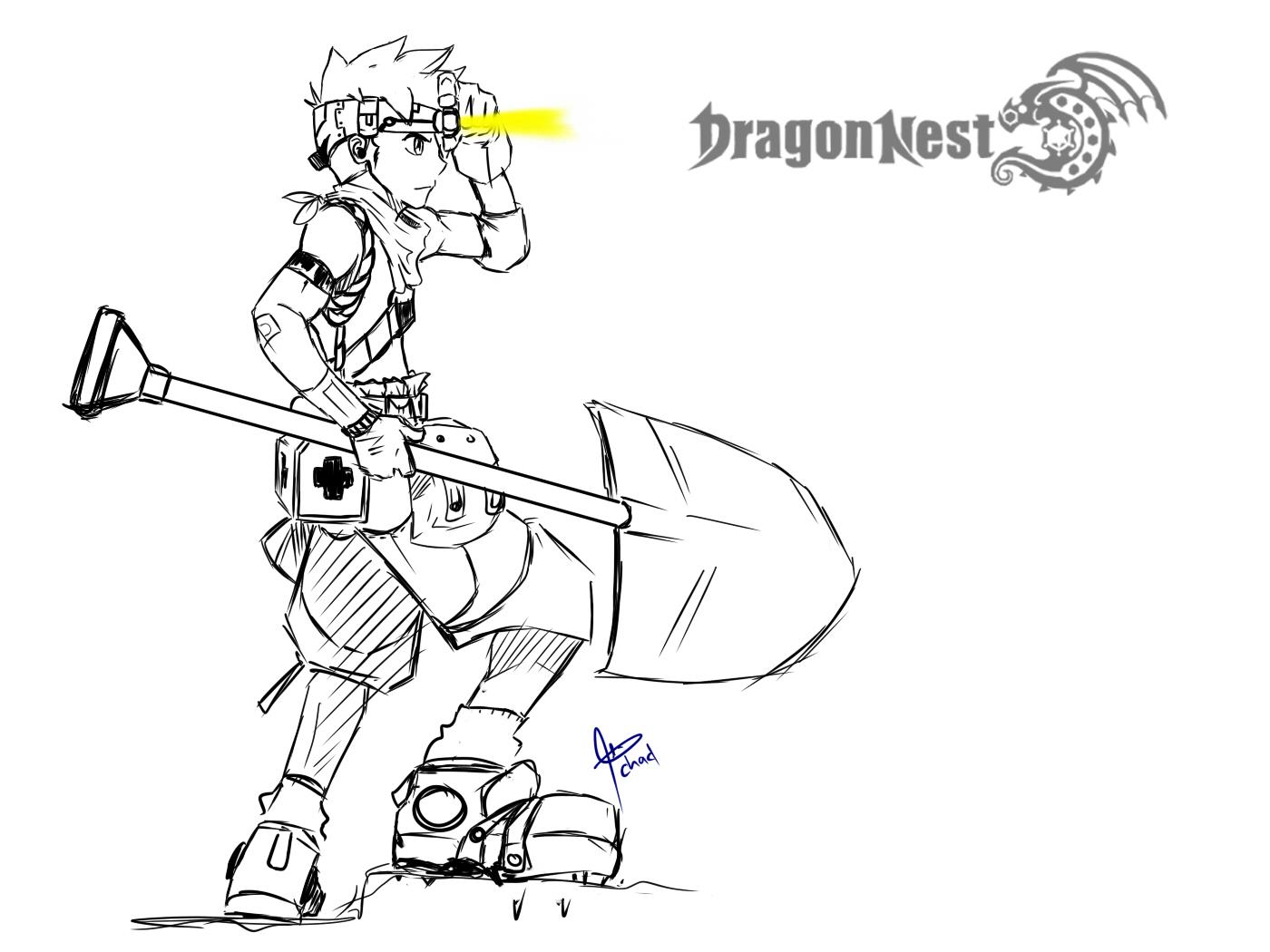 Sketsa Gambar Dragon Nest